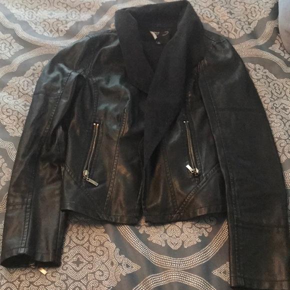 C. Luce Jackets & Blazers - Faux leather blazer